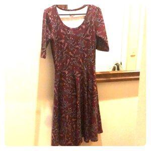 3/4 length paisley dress